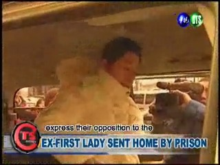 EX-FIRST LADY SENT HOME BY PRISON