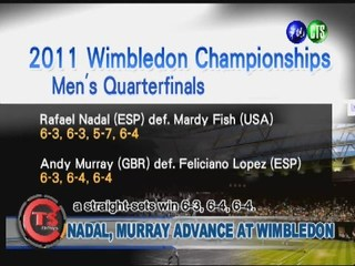 NADAL, MURRAY ADVANCE AT WIMBLEDON