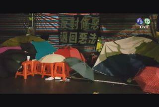 不畏寒流!反修勞基法 勞團.學生堅守立院外抗爭