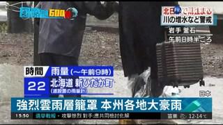 2低氣壓夾擊 東京下起大豪雨