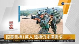 國軍志願役人數 還有近3萬缺口