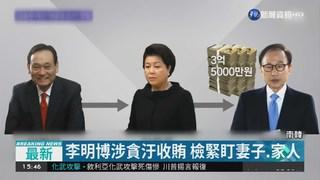涉濫權收賄等14罪 李明博遭起訴
