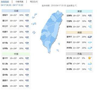 今晨新屋最低溫15.4度 各地雨勢午後趨緩