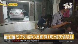 桃園驚傳逆子砍3家人 凶嫌持刀逃逸