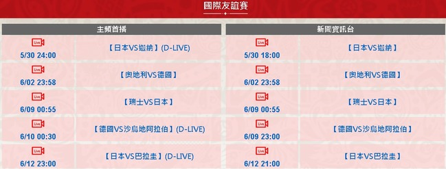 世足賽先睹為快! 華視轉播5場國際友誼賽 | 華視新聞