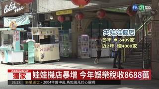 娃娃機店暴增 今年娛樂稅收8688萬