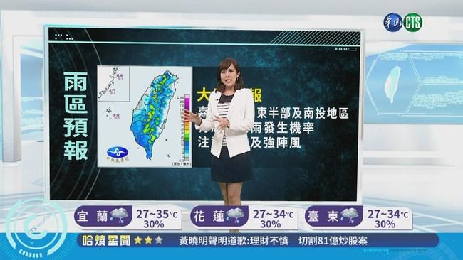 西南風+颱風 全台各地有雨