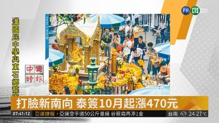 打臉新南向 泰簽10月起漲470元