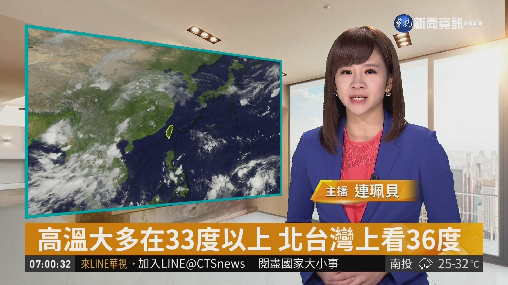 太平洋高壓影響 各地多雲到晴