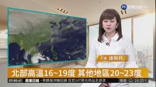 東北季風+南方水氣 天氣偏濕涼