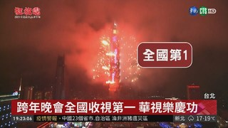 台北跨年晚會煙火高潮 全國收視第一