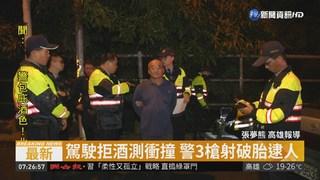 酒駕拒測還衝撞 警攔截開3槍逮人