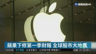 蘋果下修營收預測 全球股市大地震