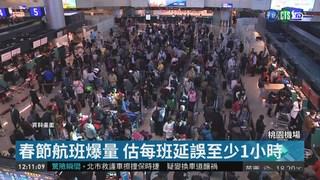 桃機春節航班爆量 最慘恐延誤4小時