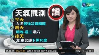 週二.週三最冷 北台灣下探10度