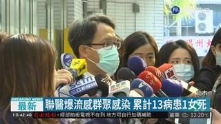 聯醫爆流感群聚感染 累計13病患1死