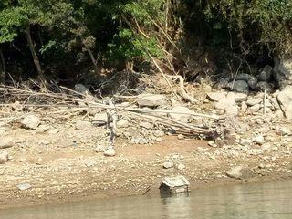 石門水庫土地公廟浮出 水利署:近期用水無虞