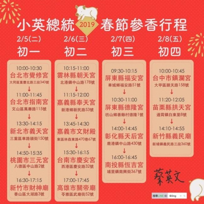 找總統討喜氣  蔡英文公布春節參香行程 | 華視新聞