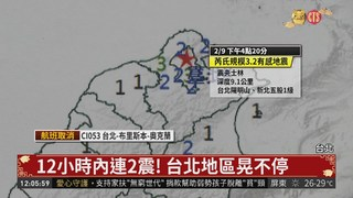 12小時內連2震! 台北地區晃不停