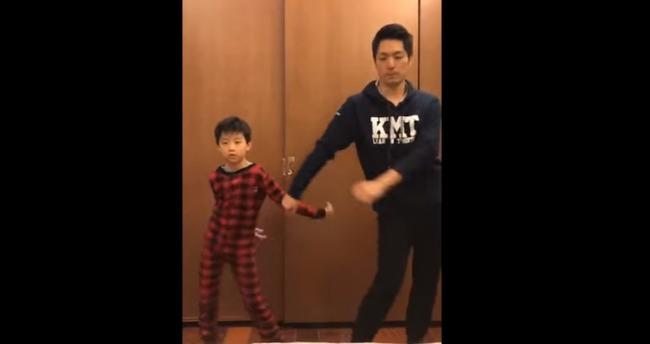 蔣萬安跳收心操 兒子在一旁超搶鏡 | 華視新聞