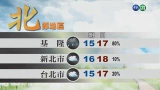 東北季風增強 北.東短暫雨 週一回暖