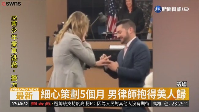 律師男別出心裁 假借官司真求婚 | 華視新聞