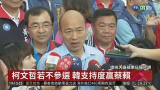 總統大選民調:韓國瑜支持度領先柯P