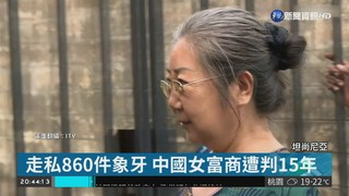 中國女富商走私象牙 坦尚尼亞判15年