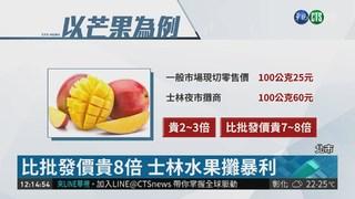 士林水果攤削客 市府開罰逾5萬元