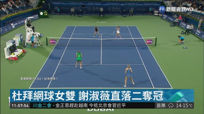 杜拜網球女雙 謝淑薇奪第21冠 | 華視新聞