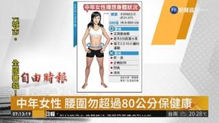 中年女性 腰圍勿超過80公分保健康