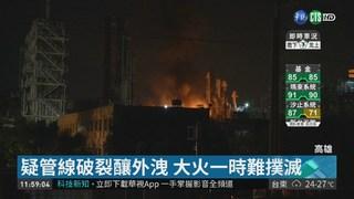 台石化廠竄火爆炸聲 4人輕重傷