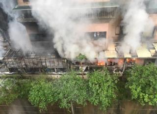 基隆社區清晨火警 疑電暖爐釀災幸無人傷