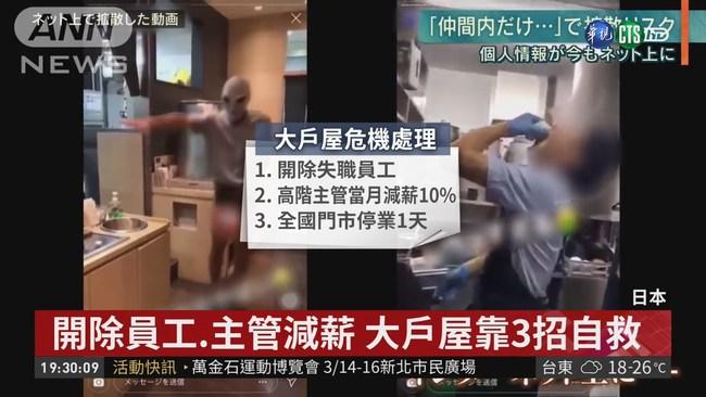 員工拍不雅片 日本大戶屋拚靠3招滅火 | 華視新聞