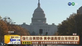 【台語新聞】強化台美關係 美參議員提台灣保證法