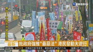"""政府強推""""逃犯條例"""" 香港爆發大遊行"""