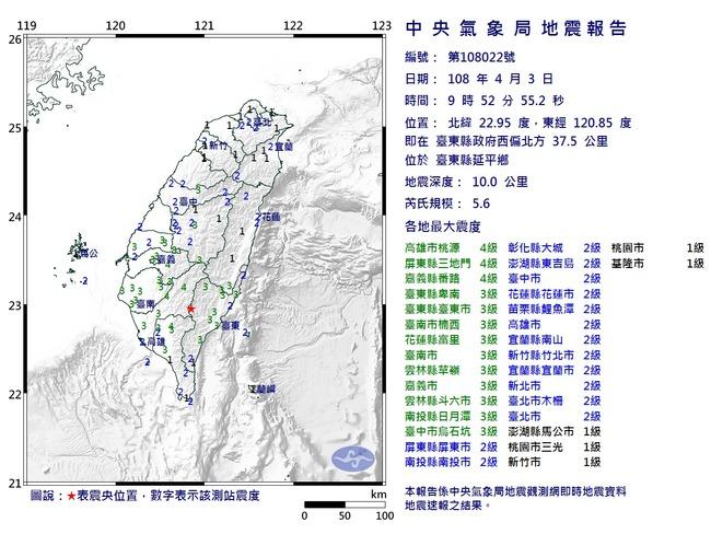 台東地震 氣象局:兩週內恐有規模4以上餘震   華視新聞