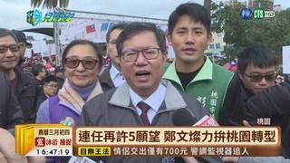【台語新聞】鄭文燦連任再許5願望 力拚桃園轉型!