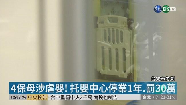 涉集體虐嬰! 惡質托嬰中心遭停業1年 | 華視新聞
