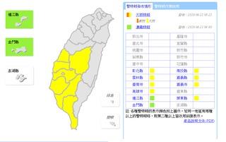 中南部8縣市大雨特報 白天北部高溫31度