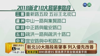 【台語新聞】新北10大路段易肇事 列入優先改善