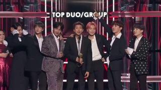 BTS奪美國告示牌「最佳團體」 致詞感謝ARMY