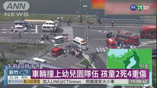 日本重大車禍意外 轎車撞幼兒園隊伍 | 華視新聞