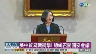 美中貿易戰衝擊台灣 總統信心喊話