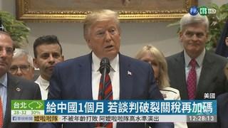 川普警告中國 拖延貿易談判後果自負!