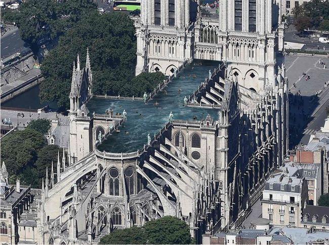 巴黎聖母院重建計劃 創意發想蓋空中泳池!? | 華視新聞