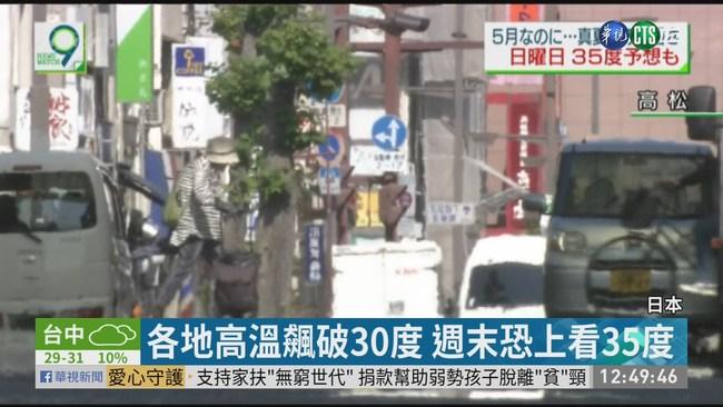 日本熱得像夏天! 週末上看35度 | 華視新聞