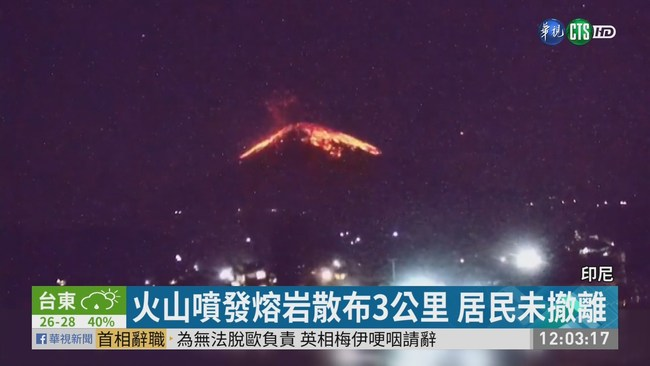 峇里島阿貢火山爆發 機場航班取消   華視新聞