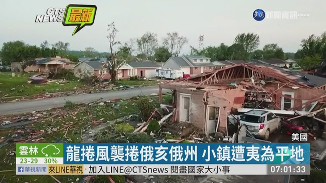 龍捲風接連襲 俄亥俄州至少1死45傷 | 華視新聞