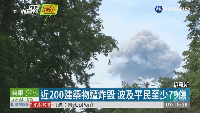 俄羅斯彈藥工廠爆炸 至少79傷 | 華視新聞